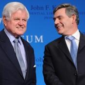Gordon Brown has led UK tributes to Senator Edward Kennedy who has died aged 77