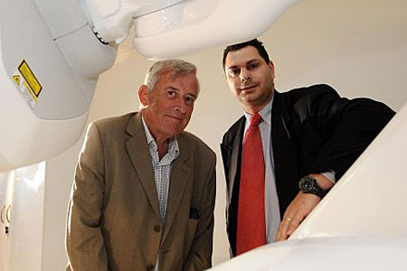Robert Ferrant pictured with oncologist Andrew Gaya