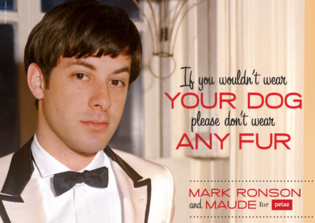 Mark Ronson says if you wouldn't wear your dog, don't wear fur