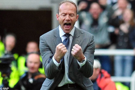 Alan Shearer celebrates