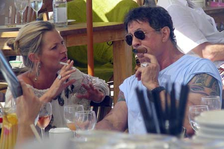 kate moss sly stallone
