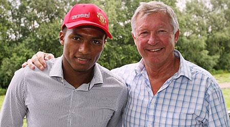 Hat's my boy: Sir Alex Ferguson is pinning his hopes on Antonio Valencia