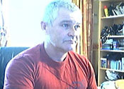 Kevin Whitrick seen from his webcam before he was found hanged. Click on image for larger pic