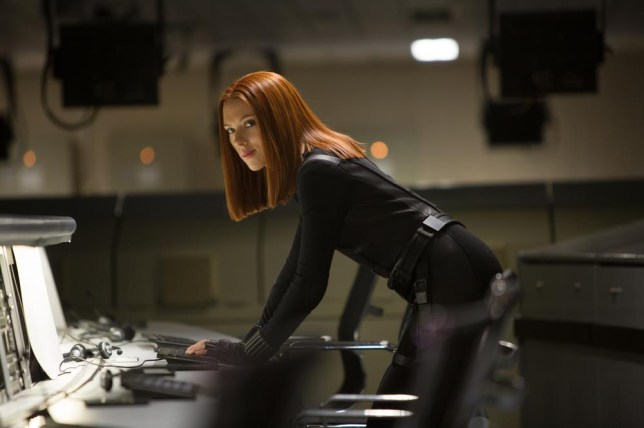 """This image released by Marvel shows Scarlett Johansson in a scene from """"Captain America: The Winter Soldier."""" (AP Photo/Marvel-Disney, Zade Rosenthal) AP Photo/Marvel-Disney, Zade Rosenthal"""