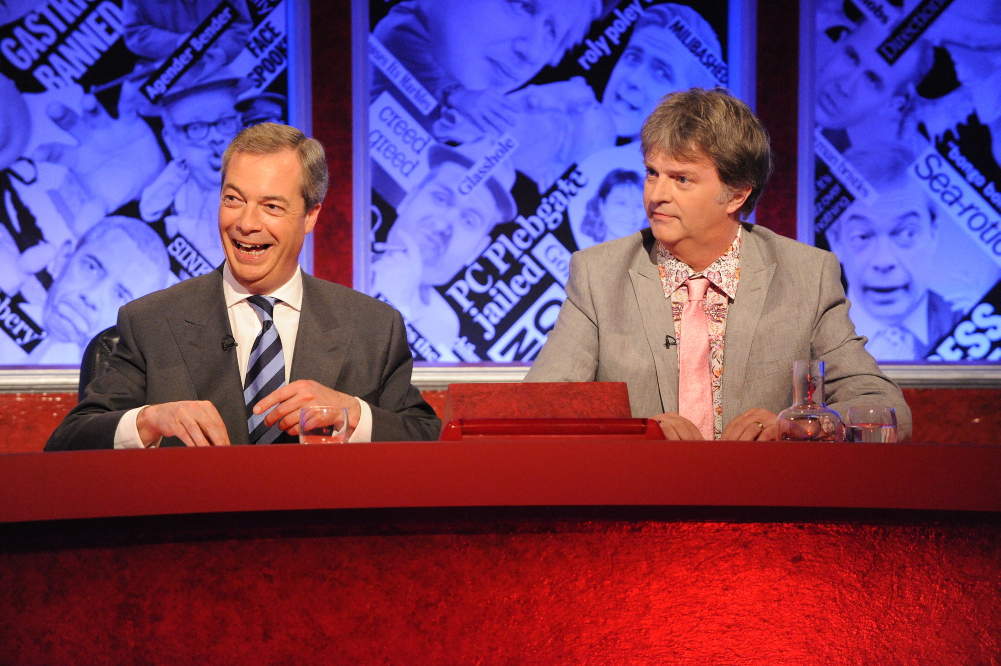 Nigel Farage predictably received a ribbing on Have I Got News For You (Picture: PA)