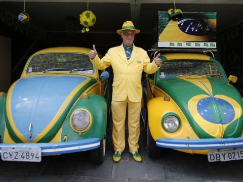 Is Nelson Paviotti the biggest Brazil World Cup 2014 football fan ever?