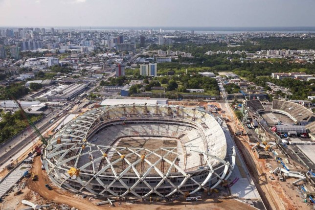 The chef negotiated a deal with Fifa to serve fish suppers at the Arena da Amazônia Picture: EPA)