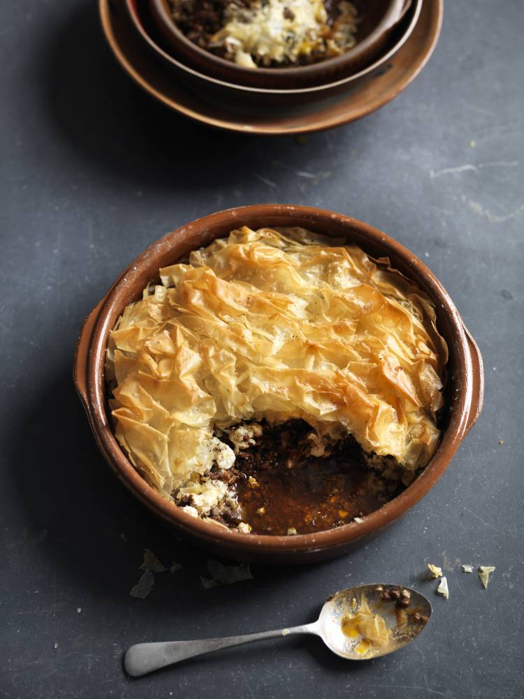 Recipe: How to cook Greek lamb filo pie with feta and oregano by Genevieve Taylor