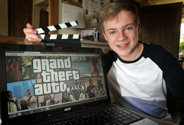Fred Pye, from Shrewsbury, Shropshire, is raking in a staggering £24,000-a-year just by making online videos of himself - playing GRAND THEFT AUTO V on his XBox