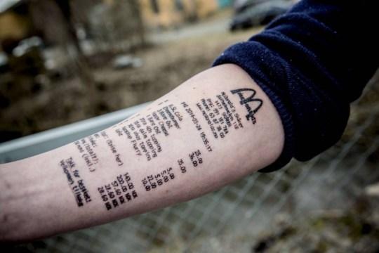 f4d337c7b Stian Ytterdahl, from Norway, who got McDonald's receipt inked on ...