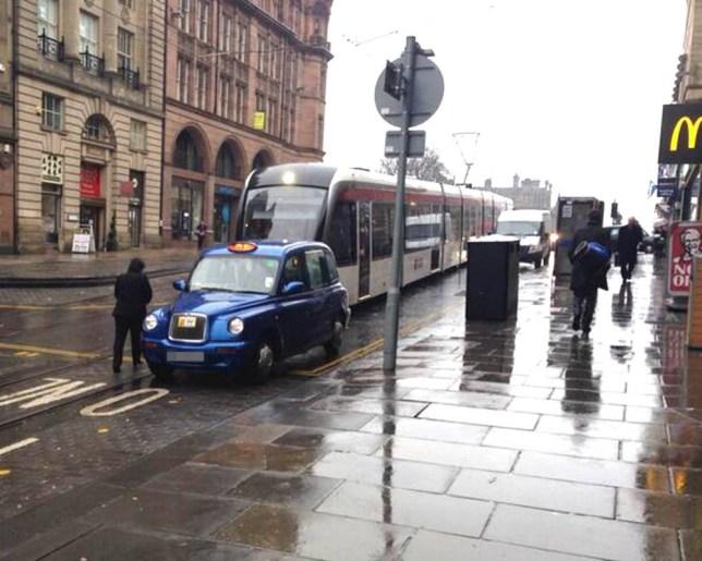 Taxi driver, tram, McDonald's