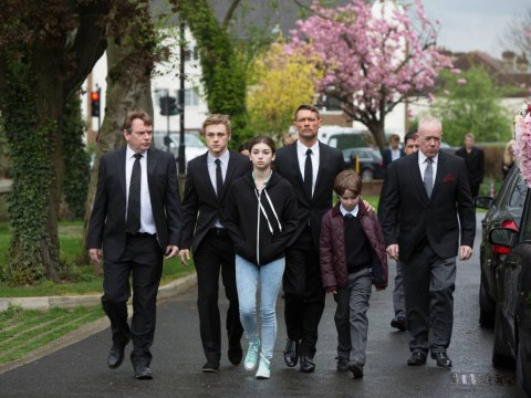 EastEnders spoiler: A sombre Ian Beale leads Albert Square residents (and an old face) at Lucy Beale's funeral
