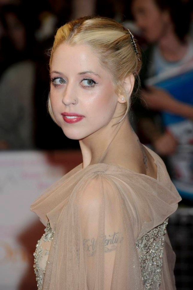 FILE - In this Tuesday, Aug. 23, 2011, file photo, British personality Peaches Geldof arrives for the European premiere of One Day at a central London venue. Entertainer Bob Geldof's agent said on Monday, April 7, 2014,  his 25-year-old daughter Peaches has died. (AP Photo/Jonathan Short, File)