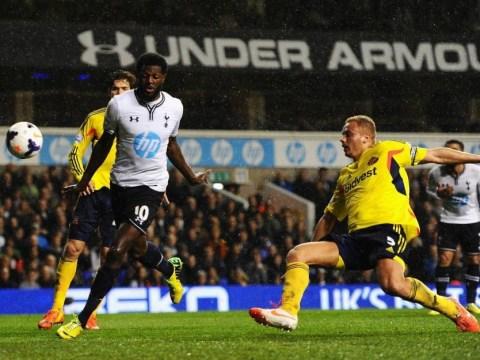 Tottenham v Sunderland: Watch as Vlad Chiriches howler gifts Black Cats lead before Emmanuel Adebayor scores handball equaliser