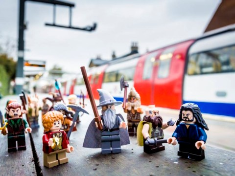 All aboard for Mordor: Lego Gandalf – and his Lego Hobbit chums – discover the joys of public transport