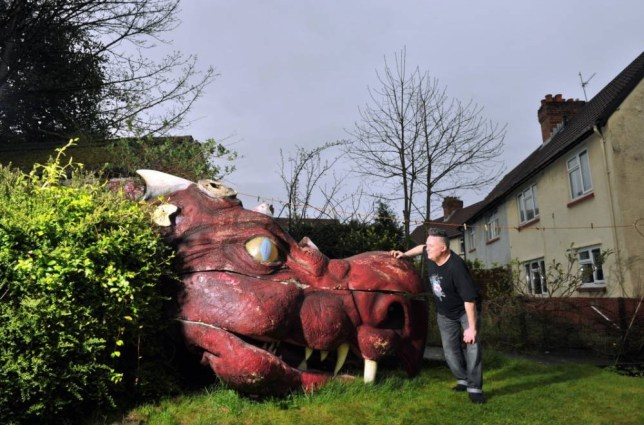 Steve Fletcher's 65ft dragon is ideal present for Game of Thrones fans