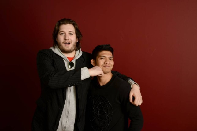 PARK CITY, UT - JANUARY 22:  Filmmaker Gareth Evans (L) and actor Iko Uwais pose for a portrait during the 2014 Sundance Film Festival at the Getty Images Portrait Studio at the Village At The Lift Presented By McDonald's McCafe on January 22, 2014 in Park City, Utah.  (Photo by Larry Busacca/Getty Images)