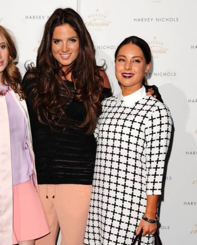 Rosie Fortescue, Binky Felstead and Louise Thompson attending the Baileys Feaster Egg Hunt at Harvey Nichols in London. PRESS ASSOCIATION Photo. Picture date: Tuesday April 15, 2014. Photo credit should read: Ian West/PA Wire