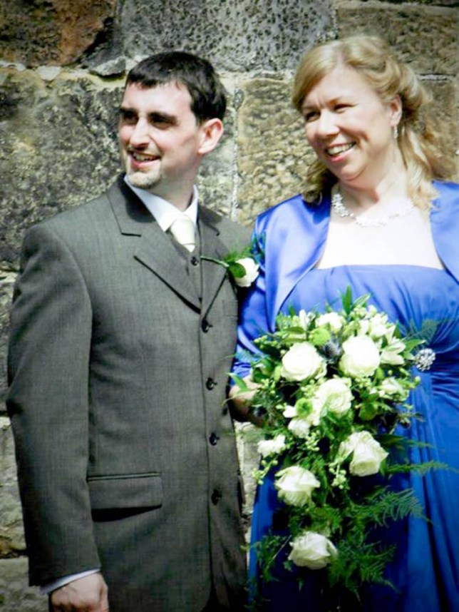 Loving man: Gareth and Alison Utting on their wedding day in 2011 (Picture: Newsteam)