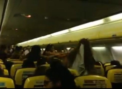 Video: Bride-to-be in punch-up with hen party on board Ryanair flight