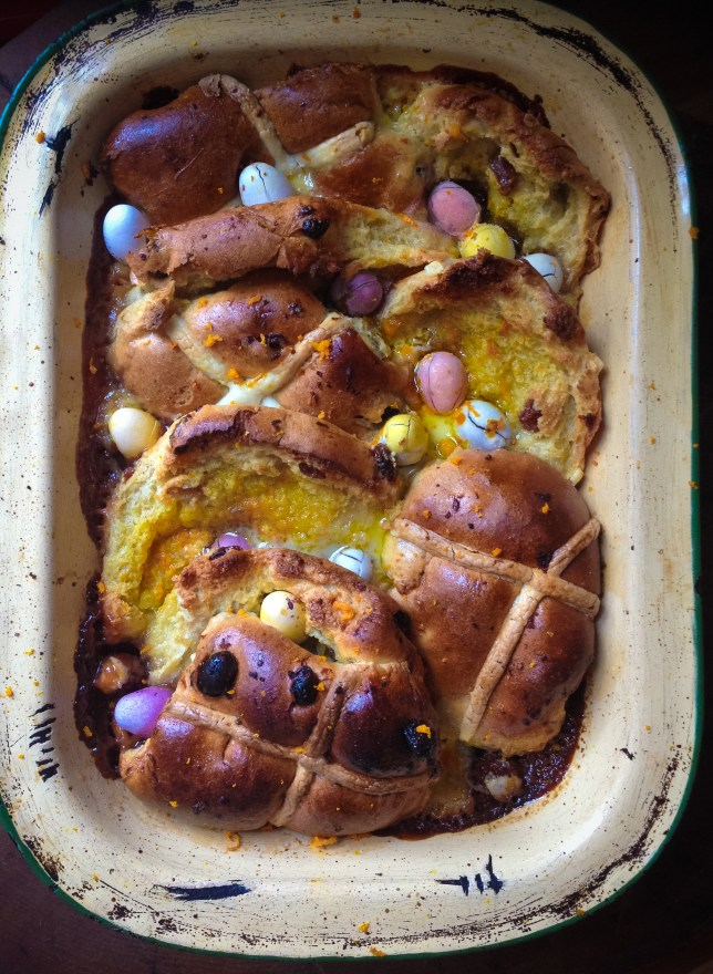 Easter recipe: Hot cross buns with orange butter and mini eggs