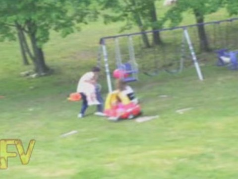 'Father mode activate!' Dad saves daughter from getting hit by toy car