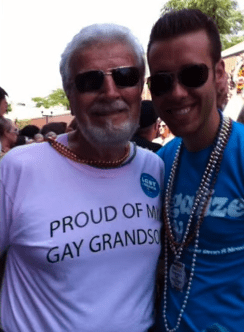 Grandfather gets equality tattoo to show support for gay grandson