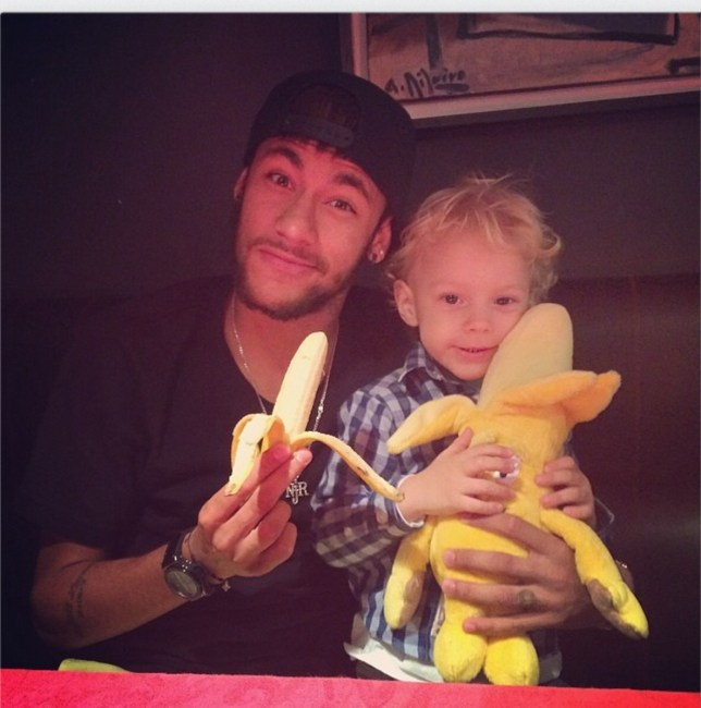 Neymar sparks social media 'banana' campaign for fight against racism (Picture: Instagram)