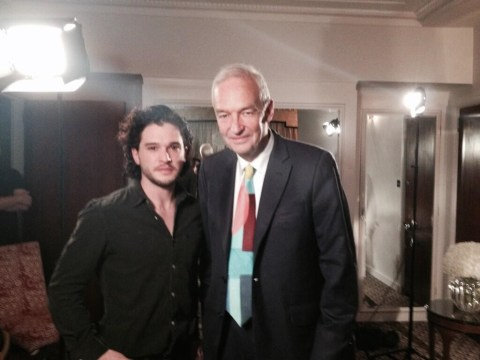 Here's a picture of Channel 4's Jon Snow with Game of Thrones' Jon Snow.