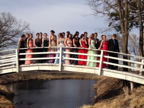 Ruined tuxedos, waterlogged prom dresses and a few bedraggled hair dos – but one hell of a prom to remember