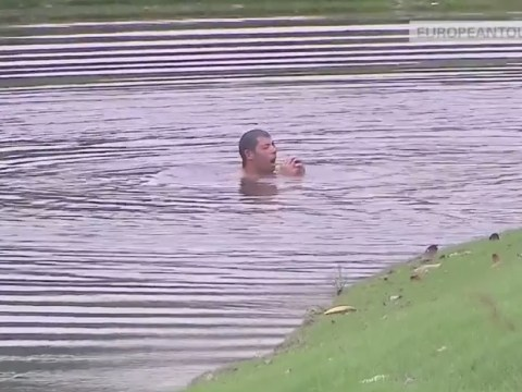 Pablo Larrazabal dives into lake after attack from hornets 'three times the size of bees' at Malaysian Open