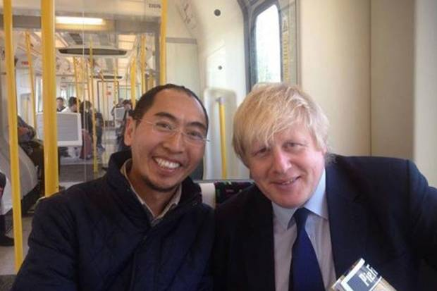 Buddhist monk leaves life's work on Tube after taking selfie with Boris Johnson