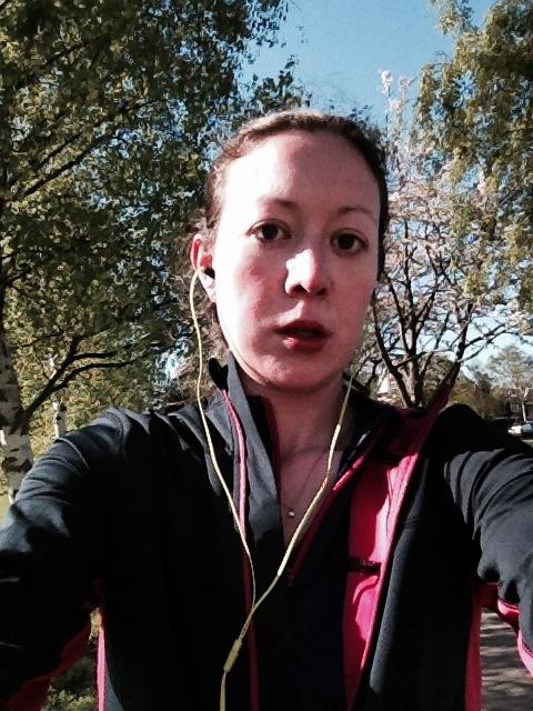 running selfie