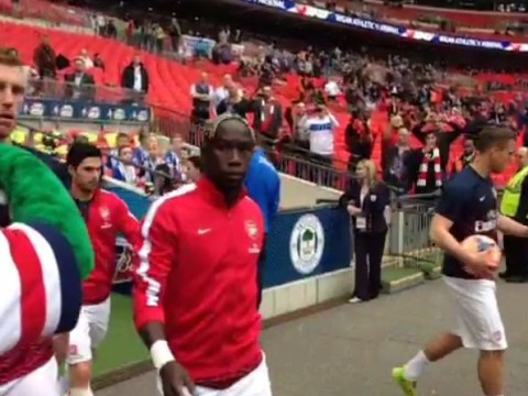 Bacary Sagna leaves Gunnersaurus hanging before Arsenal's FA Cup showdown with Wigan