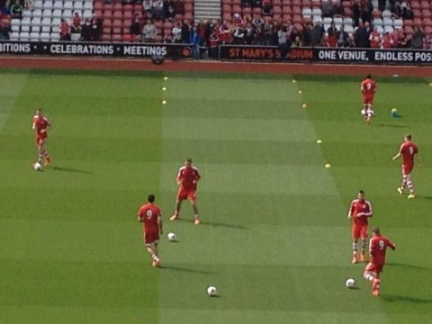 Southampton players show support for Jay Rodriguez with no.9 warm-up tops
