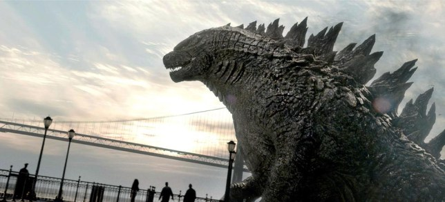 """This film image released by Warner Bros. Pictures shows a scene from """"Godzilla."""" (AP Photo/Warner Bros. Pictures) AP Photo/Warner Bros. Pictures"""