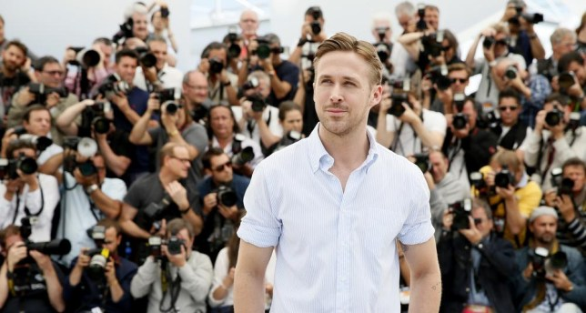 Gosling alert! The actor hit La Croisette this morning for the Lost River photocall (Picture: AP Photo/Alastair Grant)