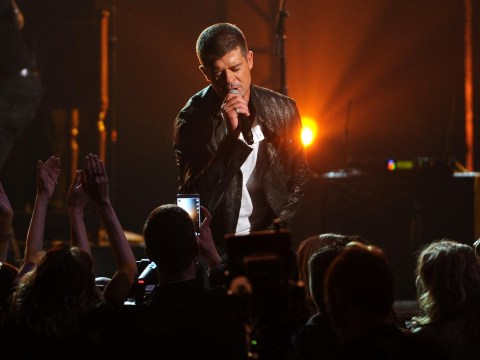 Robin Thicke dedicates new song Get Her Back to estranged wife at Billboard Awards