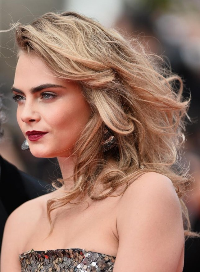 Cara Delevingne flicks the glamour switch at  the premiere for 'The Search' last night in Cannes (Picture: Michael Buckner/Getty Images)