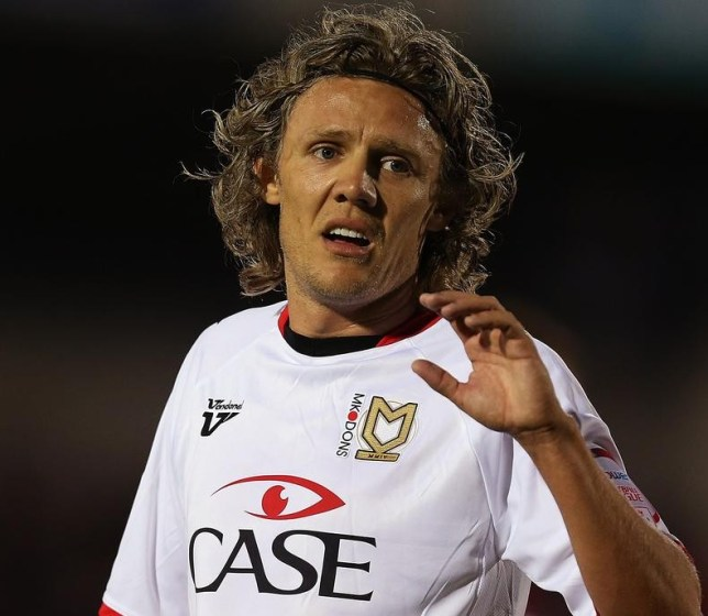 Jimmy Bullard playing for his final club MK Dons (Picture: Getty Images)