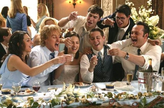 Couple Having A Wedding Crashers Themed Wedding Invites