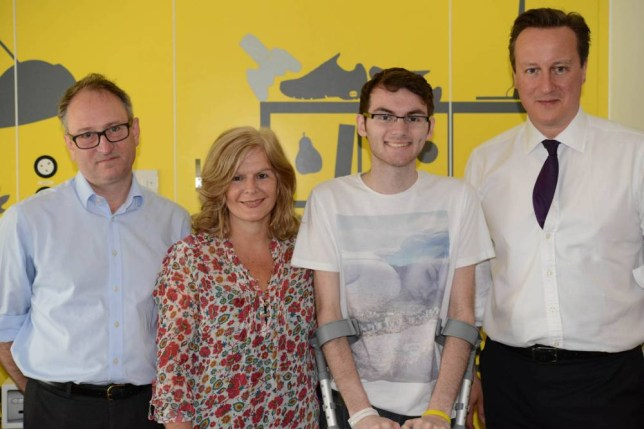 Stephen Sutton, David Cameron