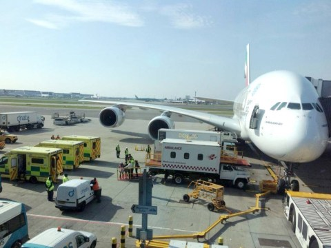 Ambulances meet plane at Heathrow airport as 60 children are taken ill on flight from Cape Town to London