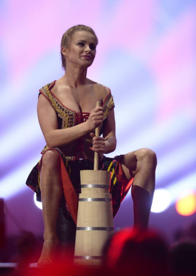 Evocative: A dancer performs during Poland's Eurovision entry (Picture: Getty)