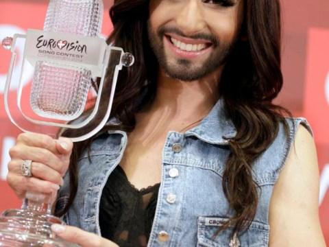 Eurovision winner Conchita Wurst reveals 007 dream as she returns to hero's welcome in Austria