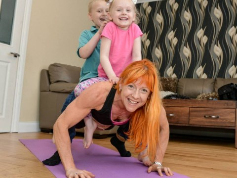 Muscle mum: Bodybuilder stays in shape using children as weights