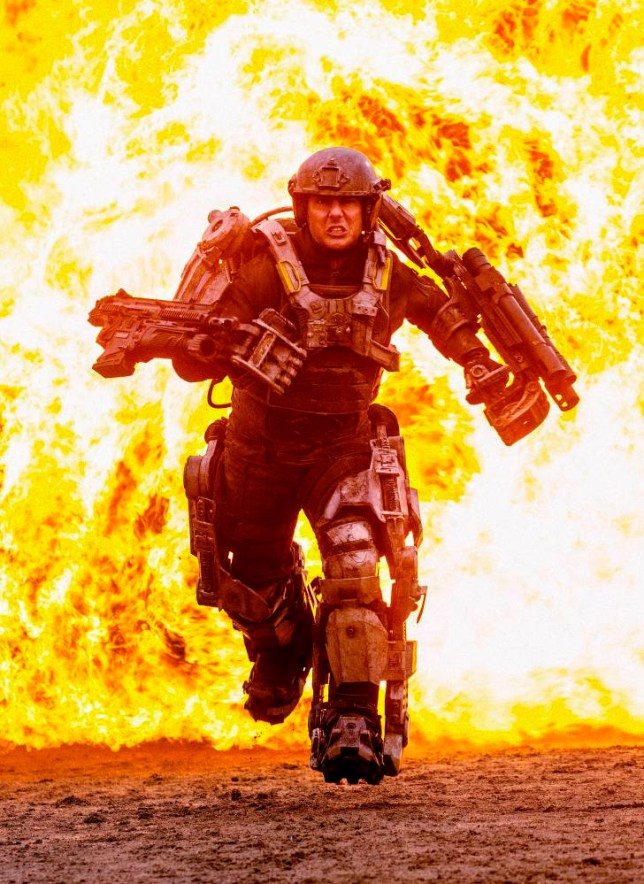 "TOM CRUISE as Major William Cage in Warner Bros. Pictures' and Village Roadshow Pictures' sci-fi thriller ""EDGE OF TOMORROW,"" distributed worldwide by Warner Bros. Pictures and in select territories by Village Roadshow Pictures."