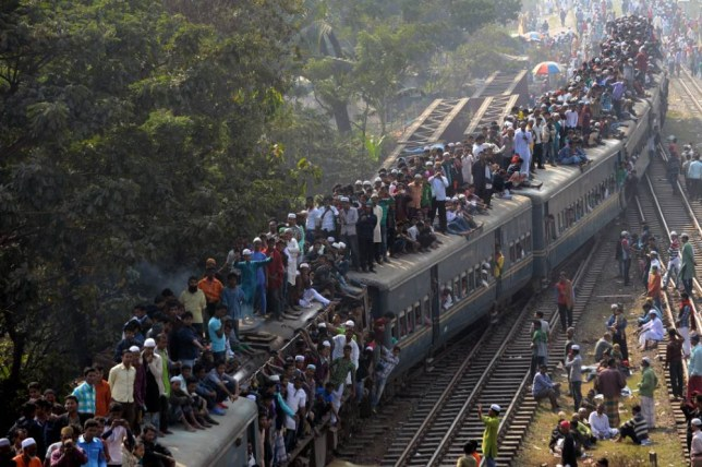 Basically what Monday morning rush hour feels like (Picture: MUNIR UZ ZAMAN/AFP/Getty Images)