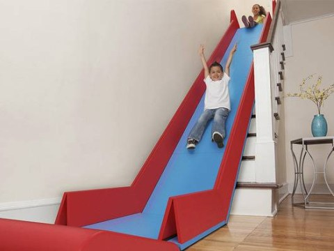 Prepare for more exciting mornings: SlideRider will turn your stairs into a slide