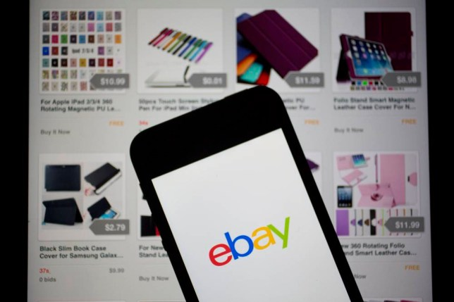 The eBay Inc. logo and application are displayed on a an Apple Inc. iPhone 5s and iPad in this arranged photograph in Washington, D.C., U.S., on Friday, April 25, 2014. EBay Inc. is expected to release earnings figures on April 29. Photographer: Andrew Harrer/Bloomberg via Getty Images